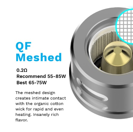 QF Meshed coil (Luxe) 0,2ohm (pack 3 unidades)